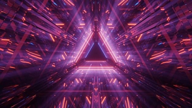 Triangle science-fiction tunnel