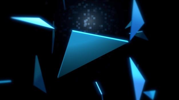 空間、抽象的な背景の三角形のパターン。ビジネスのためのエレガントで豪華なダイナミックな幾何学的なスタイル、3dイラスト