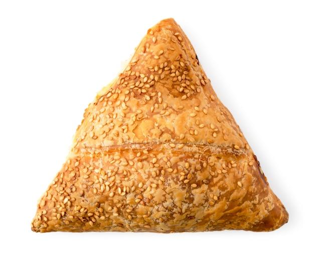 ゴマ入り三角饅頭