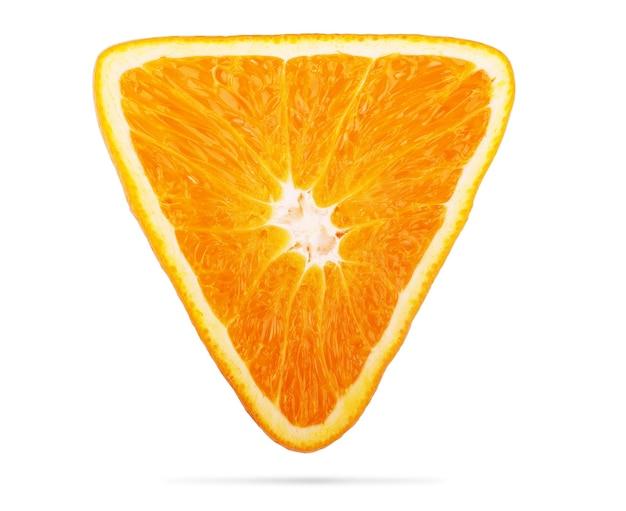 Triangular orange isolated on white background