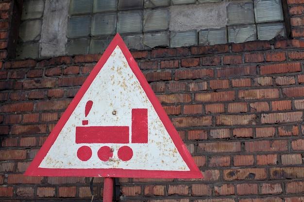Triangular road sign