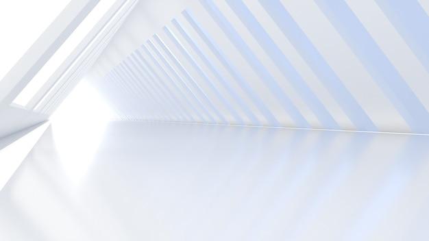 우주선과 비슷한 삼각형 모양의 복도