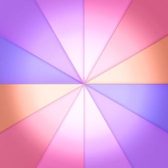 三角形のステンドグラスを円形に配置。後ろから明かりが。 3dレンダリング