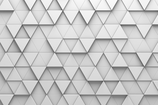 Triangular tiles 3d pattern wall