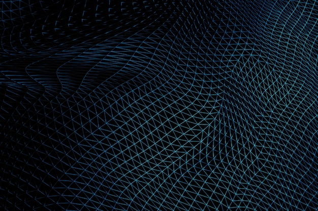 Triangular warped wireframe