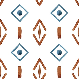 Tribal geometric abstract seamless pattern