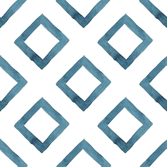 Tribal geometric blue abstract seamless pattern