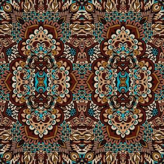 部族ヴィンテージ抽象的な幾何学的な民族のシームレスなパターン装飾