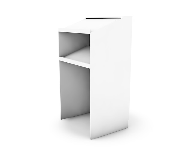 Tribune 3d rendering isolated on white background