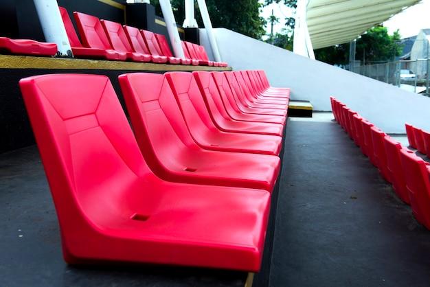 Tribune seat on the stadium sport at noon
