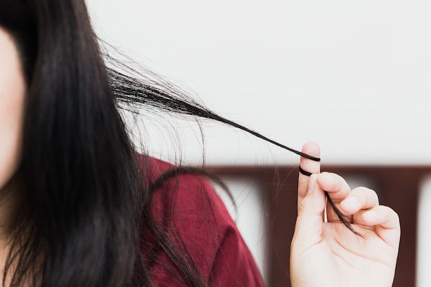 Trichotillomania or hair pulling disorder in mental health problem with stress
