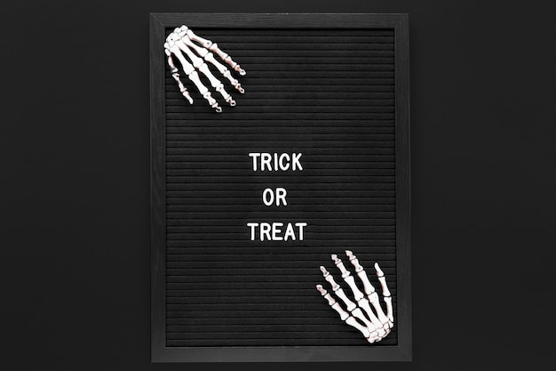 Trick or treat sign for halloween