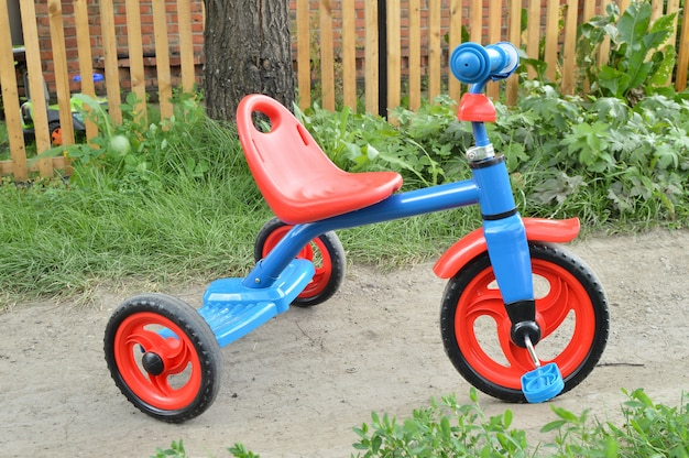 Tricycle kids bike bicycle blue and red
