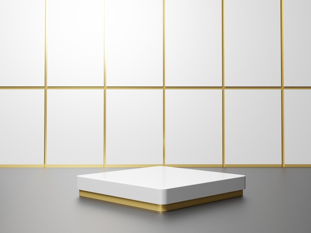 Tridimensional geometric podium for product presentation