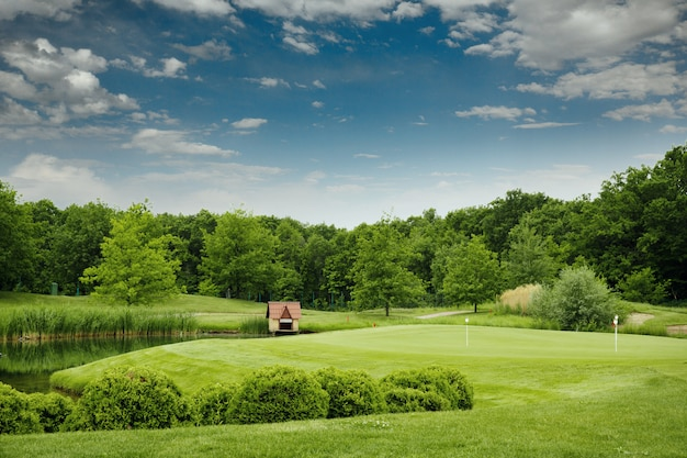 ゴルフコースでのゴルフのためのトリミングされたフィールド