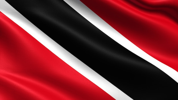 Trinidad and tobago flag, with waving fabric texture