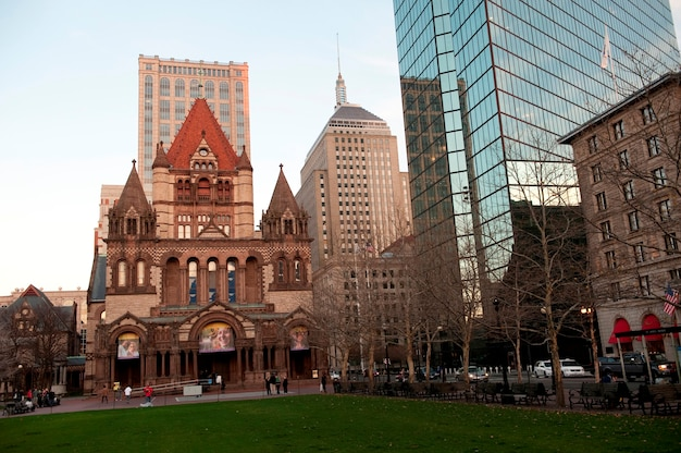 Trinity church in boston, massachusetts, usa
