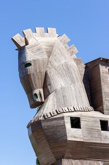 Trojan horse at troy in canakkale turkey