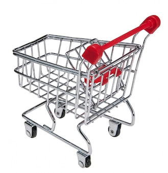 Trolley shopping silver supermarket