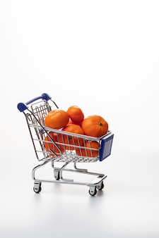 Trolley with tangerines