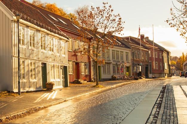 Trondheim street in autumn
