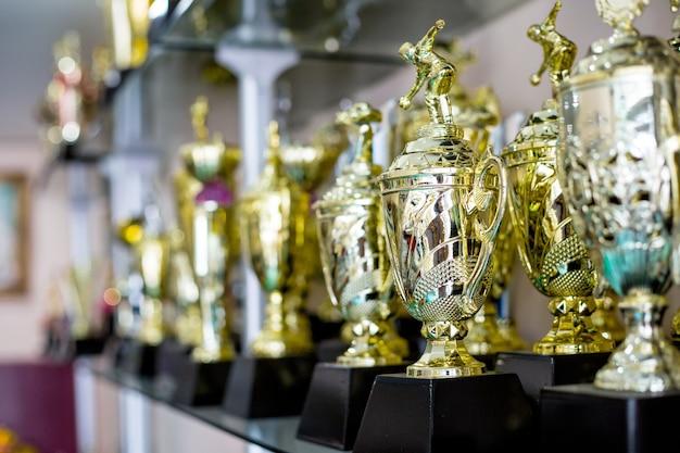 トーナメントでのチャンピオンのリーダーシップに対するトロフィー賞