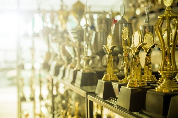 自宅のチャンピオンの人々のためのトロフィー賞。