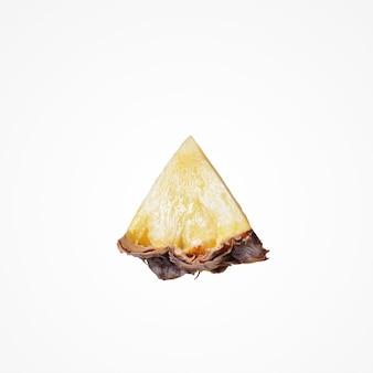 Тропический фруктовый состав. сладкий красочный изолят ананаса куска на пустой предпосылке студии.