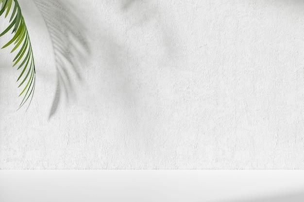 디스플레이 제품에 대 한 흰색 벽과 열 대 추상적 인 배경. 3d 렌더링 프리미엄 사진
