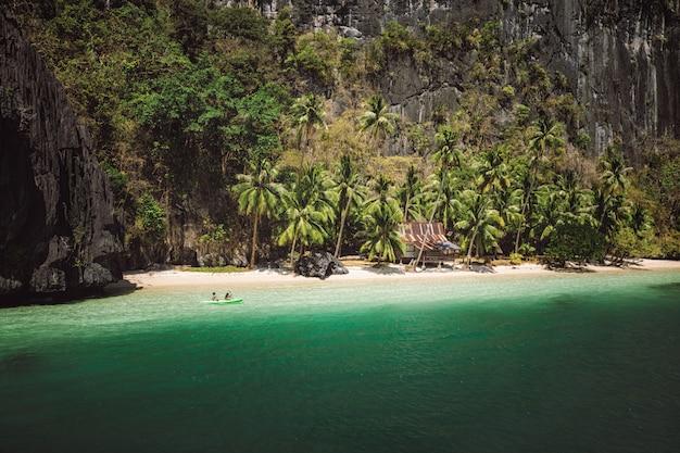 Tropical beach in el nido, palawan, philippines