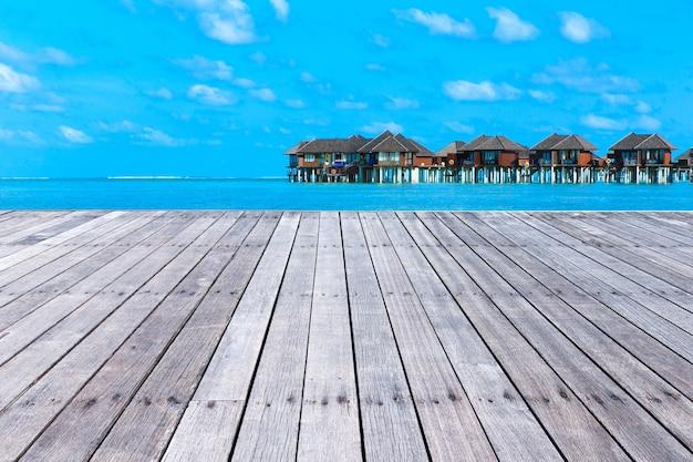 몰디브의 열 대 해변