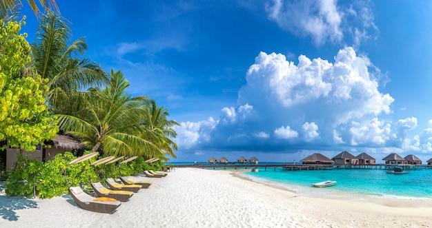Tropical beach in the maldives island
