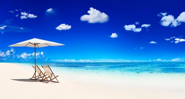 Paradiso delle spiagge tropicali a samoa