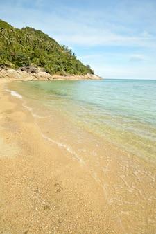 Tropical beach turquoise sea in thailand