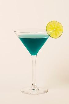 Tropical blue lagoon cocktail