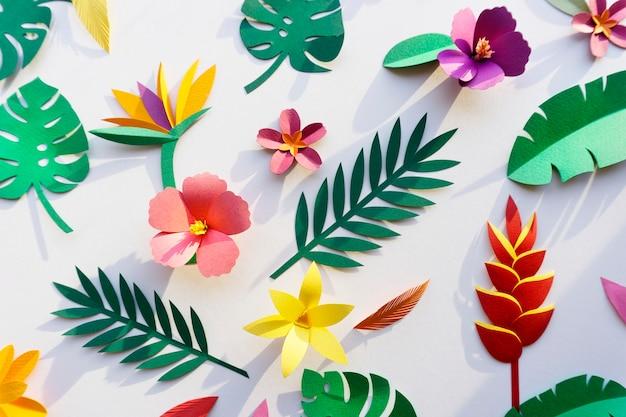 열대 식물 종이 공예 수제 컬렉션