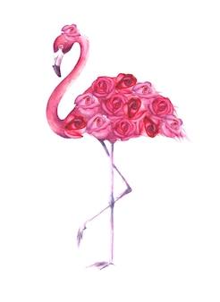 熱帯のエキゾチックな鳥ピンクのフラミンゴ
