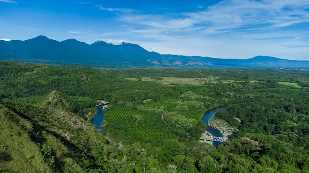 アチェベサール地区アチェ県の熱帯林