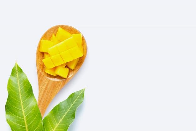 Tropical fruit mango on white background
