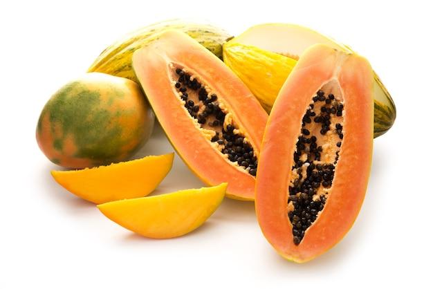 トロピカルフルーツ、パパイヤ、マンゴー、メロンの分離