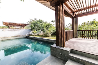 Tropical home luxury water sky