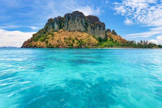 Tropical island in the blue ocean. thailand.