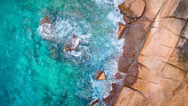 Тропический остров сейшельские острова с воздуха