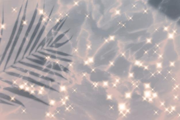 열대 잎 스파클 효과 이미지 배경