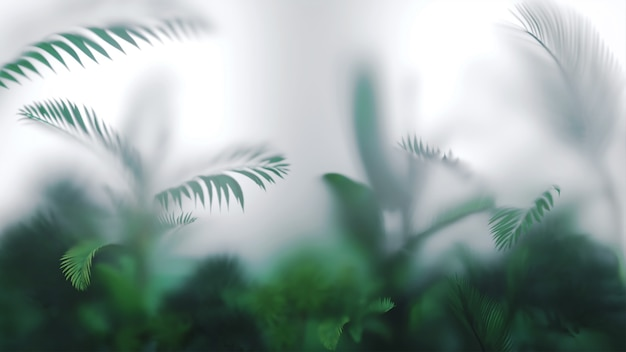 熱帯の葉や植物の背景。
