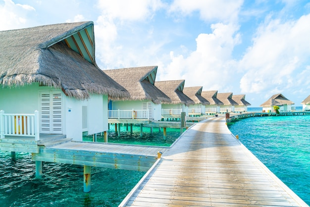 Tropical maldives resort hotel and island