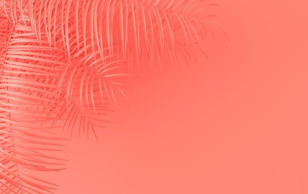Фон тропических пальмовых листьев