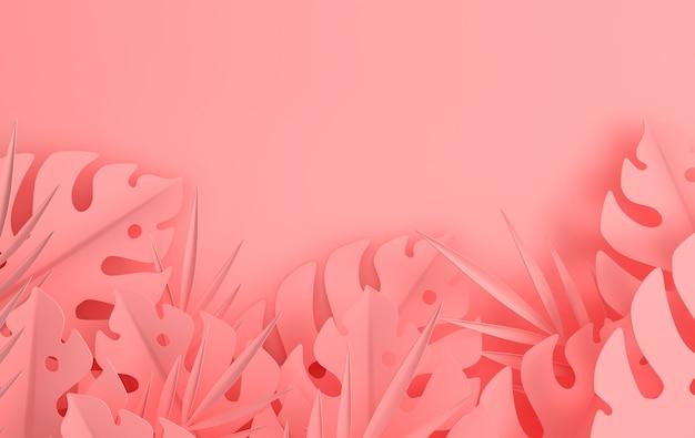 トロピカルペーパーヤシの葉フレーム
