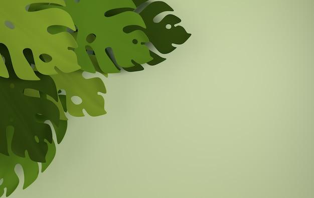熱帯紙のヤシの葉のフレーム