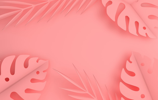 Рамка из тропических бумажных пальмовых листьев